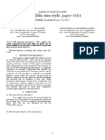 FYPII Technical Paper Template