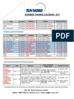 Tuv Training Calendar - N-d-2017 - r0