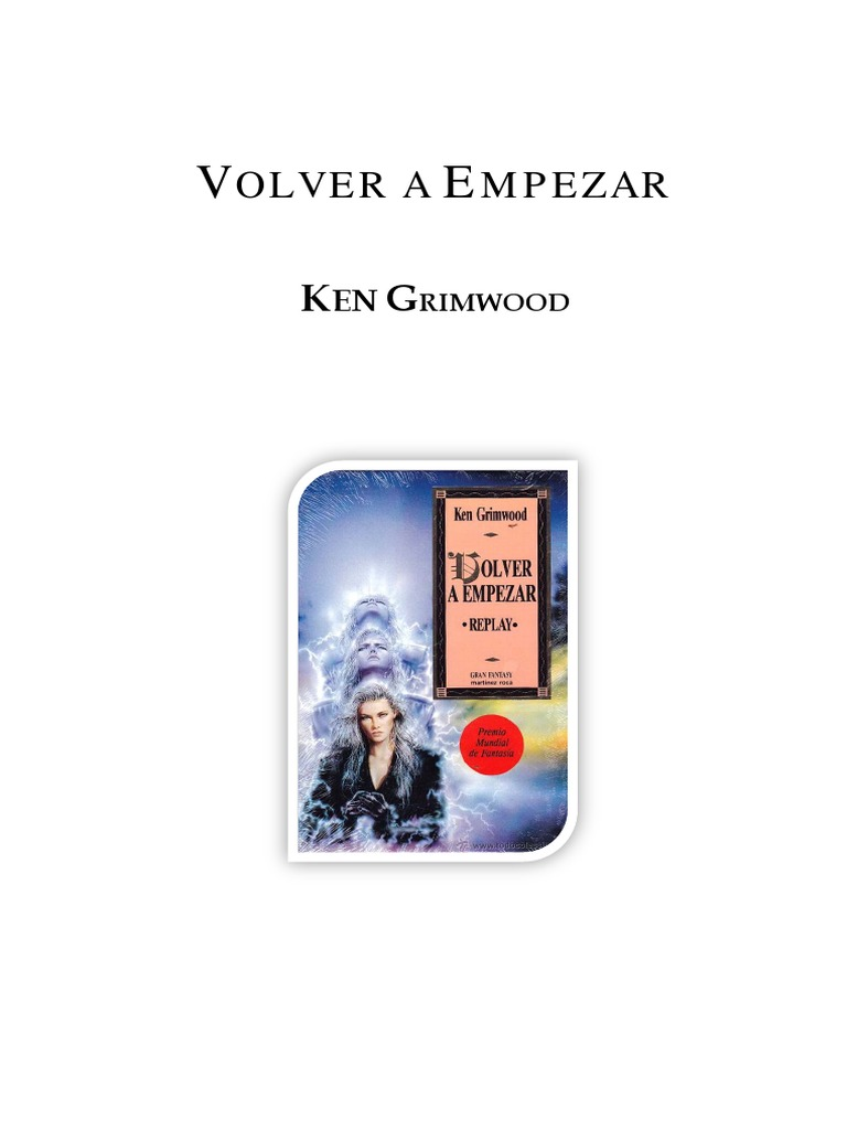 best authentic 9522a f6915 Grimwood, Ken - Volver a Empezar