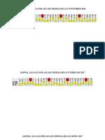 Jadwal Jaga Klinik Auladi Medika (Autosaved)