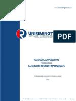 Matematicas I Matematicas Operativas 2016