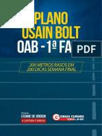 Plano Usain Bolt Oab 1ª Fase - Parte i