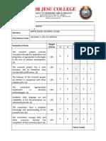 Final Defense Rating Sheet