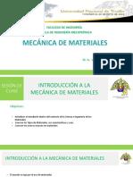 Sesion 01 Introducción a La Mecánica de Materiales