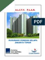 Quality Plan Rusunami Pondok Kelapa