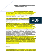Influencia de La Microestructura Del Acero Para Herramientas