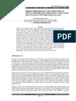 Analisis Resiko Operasional Pada Perusahaan Pembiayaan Dengan Metode Risk Breakdown Structure (RBS) Dan Analytic Network Process (ANP)