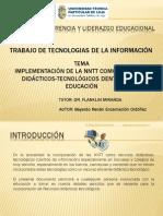integrar recursos didacticos-tecnológicos