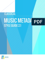Music Metadata Style Guide (Classical)