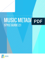 Music Metadata Style Guide