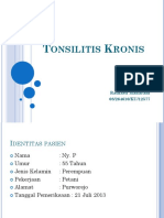 Refleksi Kasus Tonsilitis Kronis