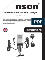 PE138 - Gunson Model 77115 - Maintenance Battery Charger - BC715 Instructions Manual