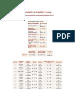 Simulador de Crédito Personal (BANCO AZTECA)