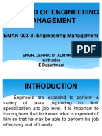 Chapter 1-The Field of Engineering Management