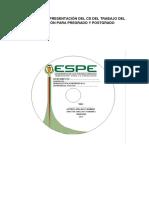 Forma de Presentación Del CD y de La Caja Del Proyecto