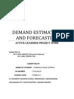 demand forecasting demand estimation