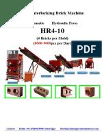 HR4-10 Automatic Hydraulic Interlocking Lego Brick Machine