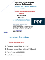 Module 1 -Le Contexte Energetique INTERNATIONAL ET NATIONAL (DJIBOUTI)