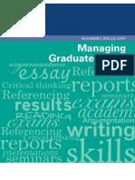 Managing Grad Study