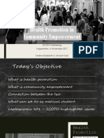 Health Promotion in Community Empowerment - Final Version