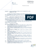 P AO19 Rules-Regulation on the Transport of Live Animals by Land