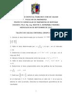 Taller No. 3 de Cálculo Integral u. Distrital (24!09!2016)
