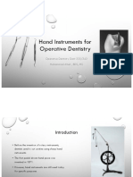 5.Hand Instruments for Operative Dentistry Hadouts