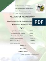 Proyecto Final de Batido de Arandano