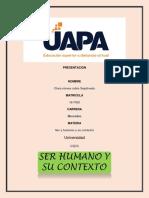 Ser y Humano y Sus Contexto Tarea 4
