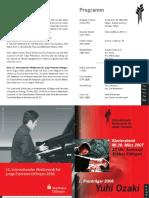 2007 Konzert Programm