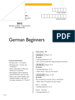 German Beg Hsc Exam 2012