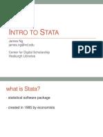 Intro to Stata (1)