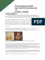 Berita Kedatangan Nabi Muhammad Tertulis Dalam Kitab Suci Wedha
