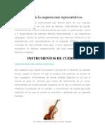 Instrumentos de La Orquesta Más Representativos