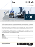 Liebherr Lhm 550 Mobile Harbour Crane Bulk Handling Pactronic Marin Spain Job Report