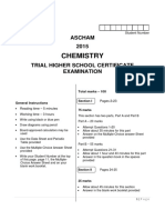 2015 Ascham HSC Chemistry Trials & Solutions