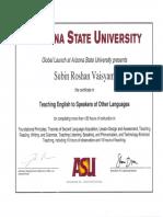 English Training Certificates