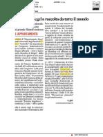 Esperti di Hegel a raccolta da tutto il mondo - Il Corriere Adriatico del 22 novembre 2017