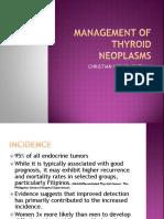 Management of Thyroid Neoplasms [Autosaved]
