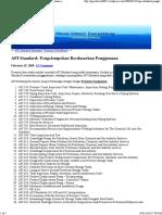 API Standard Pengelompokan Berdasarkan Penggunaan
