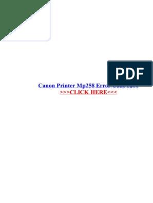 Canon Printer Mp258 Error Code 5200 (1) | Canon Inc