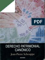 Derecho Patrimonial Canonico. Jean-Pierre Shouppe