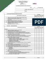 Observation Checklist