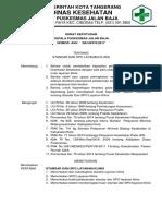 9 2 2 1 Standar Dan SPO Layanan Klinis Bukti Monitoring Pelaksanaan Standar Dan SPO Hasil Monitoring Dan Tindak Lanjut