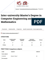 Inter-university Master's Degree in Computer Engineering and Mathematics |struct