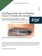 Configuración de Un Router Cisco a Través de Consola – _MANCERA