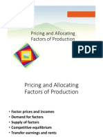 13. Pricing and Allocating Factors of Production