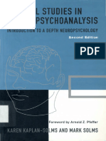 Clinical estudies in neuropsychoanalysis