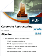 Investment Banking - Corporate Restructuring