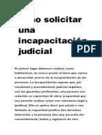 Como Solicitar Una Incapacitación Judicial
